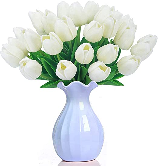 Latex Tulip Flowers Bouquet Bridal Floral Home Wedding Party Decor Gifts DIY