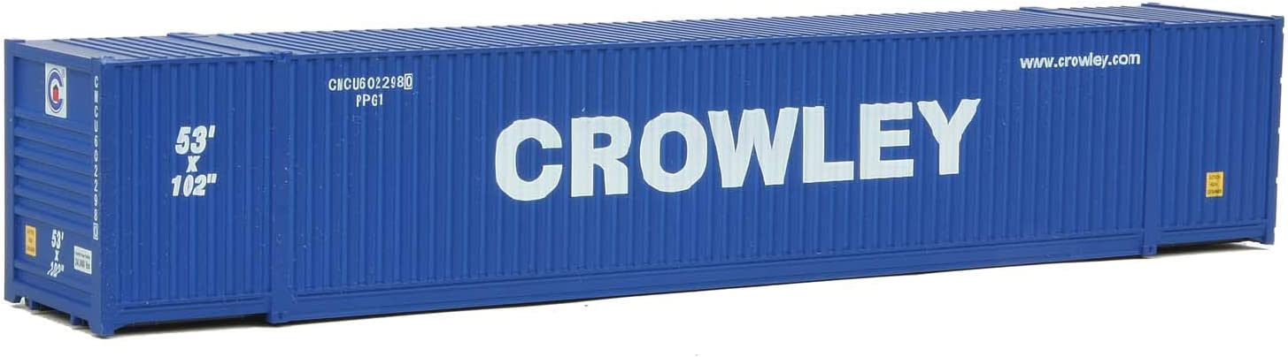 Walthers HO Scale 53/' Singamas Corrugated-Side Container Swift White, Blue