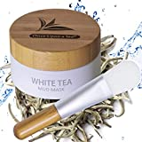White Tea Mud Mask - 100 ml, Antioxidant Facial Treatment, Smoothes Fine Lines