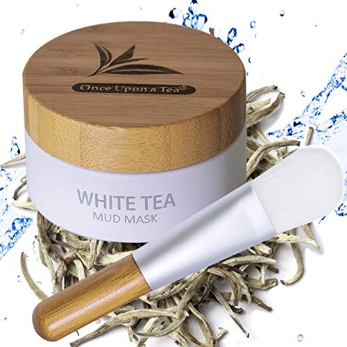 White Tea Mud Mask - 100 ml, Antioxidant Facial Treatment, Smoothes Fine Lines, Wrinkles, Deep Cleanse, Detoxifies Face, Removes Dark Spots, Skin Pigmentation, Blackheads, Pore Minimizer, Anti Aging (Best Mud Mask For Dry Skin)