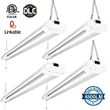 Amico 40W 4ft Linkable LED Utility Shop Light, 4800 Lumens Super Bright 5000K Daylight, LED Garage Light Fixture, Durable LED Fixture with Pull Chain Mounting and Daisy Chain (4 pack)