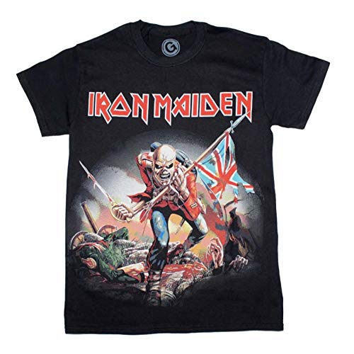Mens Iron Maiden The Trooper Black T-Shirt - S