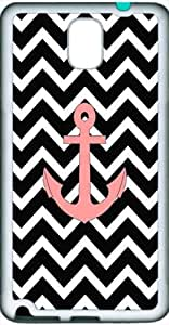 Anchor Black Chevron Pattern Rubber Durable Back Cover for Samsung Galaxy Note 3 N9000 Case(TPU Black)