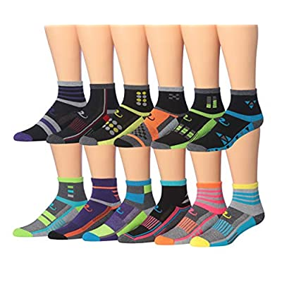Ronnox Women's 12-Pairs Running & Athletic Sports Performance Ankle/Quarter Socks at Women's Clothing store