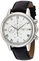 Tissot Carson White Dial SS Leather Automatic Men's Watch T0854271601300