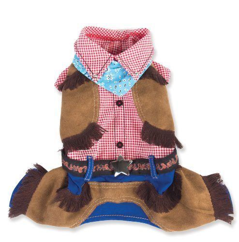[Cowboy Costume for Dogs (Size 4 (12.5