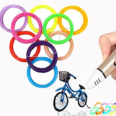 Tiptiper 3D Printing Pen Filament Refills, 1.75 mm Filament PLA Different Colors ABS Filament