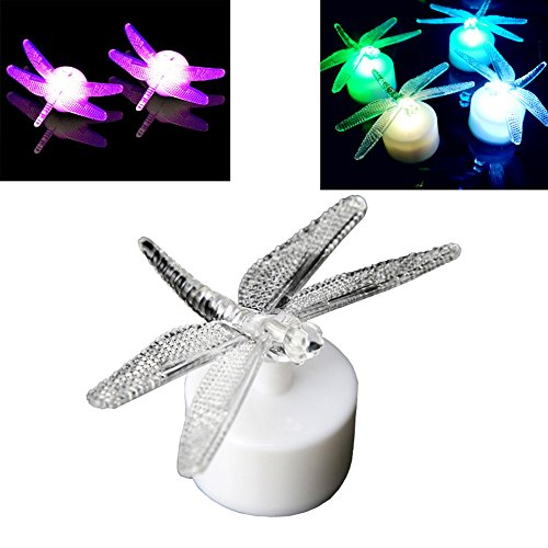[DE-Spark 10 Pack Acrylic LED Color Changing Night Lights Creative Art Deco Lamps (Dragonfly)] (Welcome To The Black Parade Costume)