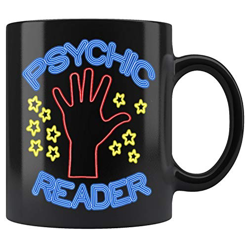Psychic Reader Neon Sign Stars Hand Mug Coffee Mug 11oz Gift Tea Cups 11oz