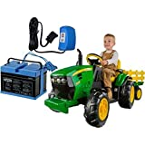 Peg Perego IGOR0039K John Deere Ground Force Tractor w trailer 12 Volt Battery and Charger