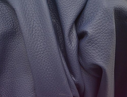 (The Leather Guy - Leather Cow Upholstery Full Hide 47 Sq Ft Stone Blue 2 1/2 oz Pebble Grain -13)