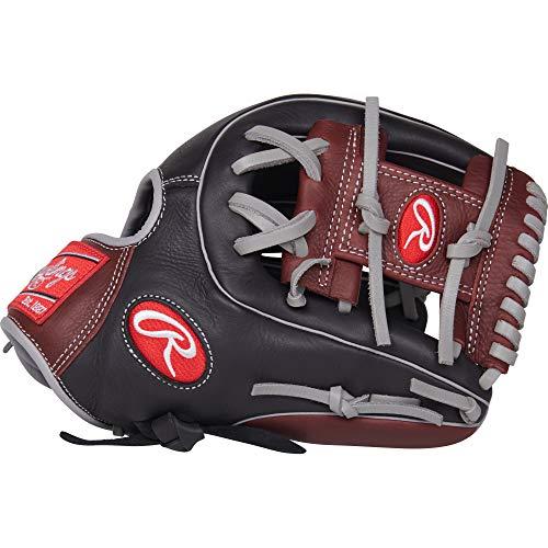 (Rawlings R9 Baseball Glove, Black, 11.5