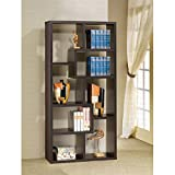 Brayden Studio Bookcase Cube Unit 71'' Ansley Collection Features Unevenly Shaped Shelves Charming Design in Cappuccino Finish