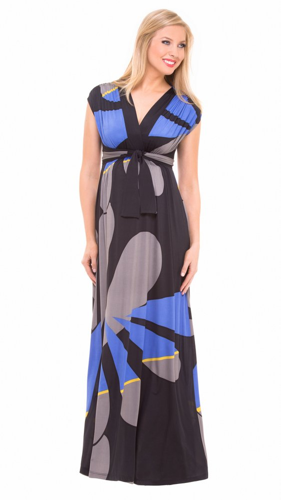 Olian Maternity Empire Geometric Print Maxi Dress by Olian