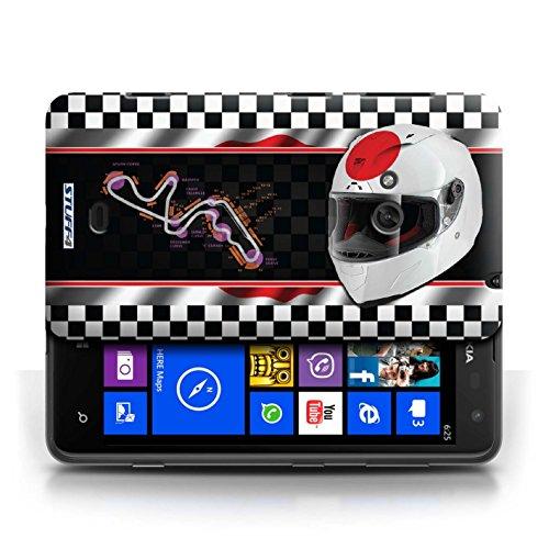 Etui / Coque pour Nokia Lumia 625 / Japon/Suzuka conception / Collection de F1 Piste Drapeau