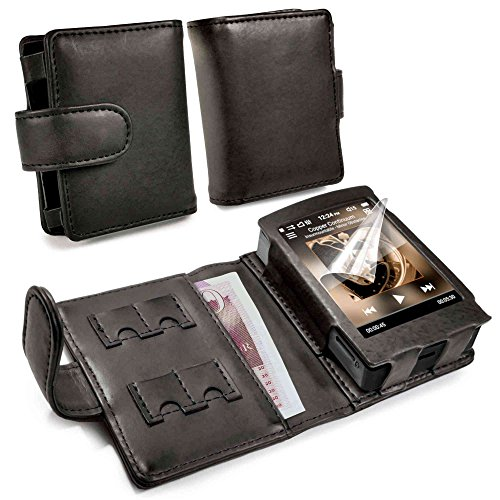 Tuff-luv Genuine Western Leather Case Cover for Cowon Plenue D - MP3 - Black by Tuff-luv (Image #4)