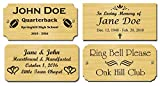 2'' H x 4'' W, Solid Brass Satin Name Plates, Personalized Custom Laser Engraved Nameplate Label Art Tag for Frames Notched Square or Round Corners, Made to Order, Made in USA