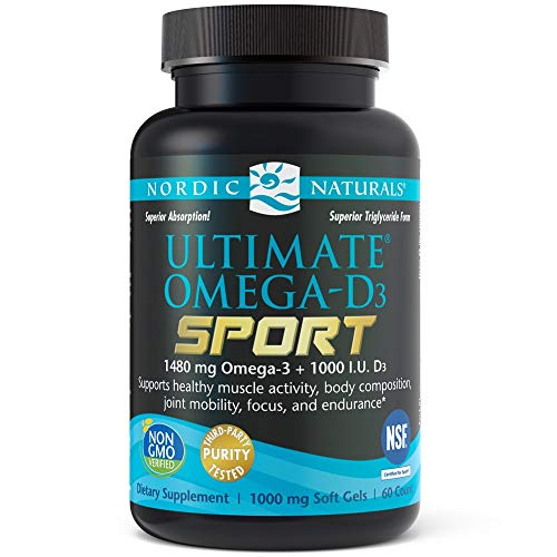 Nordic Naturals - Ultimate Omega-D3 Sport, Supports Healthy Bones and Immunity, 60 Soft Gels