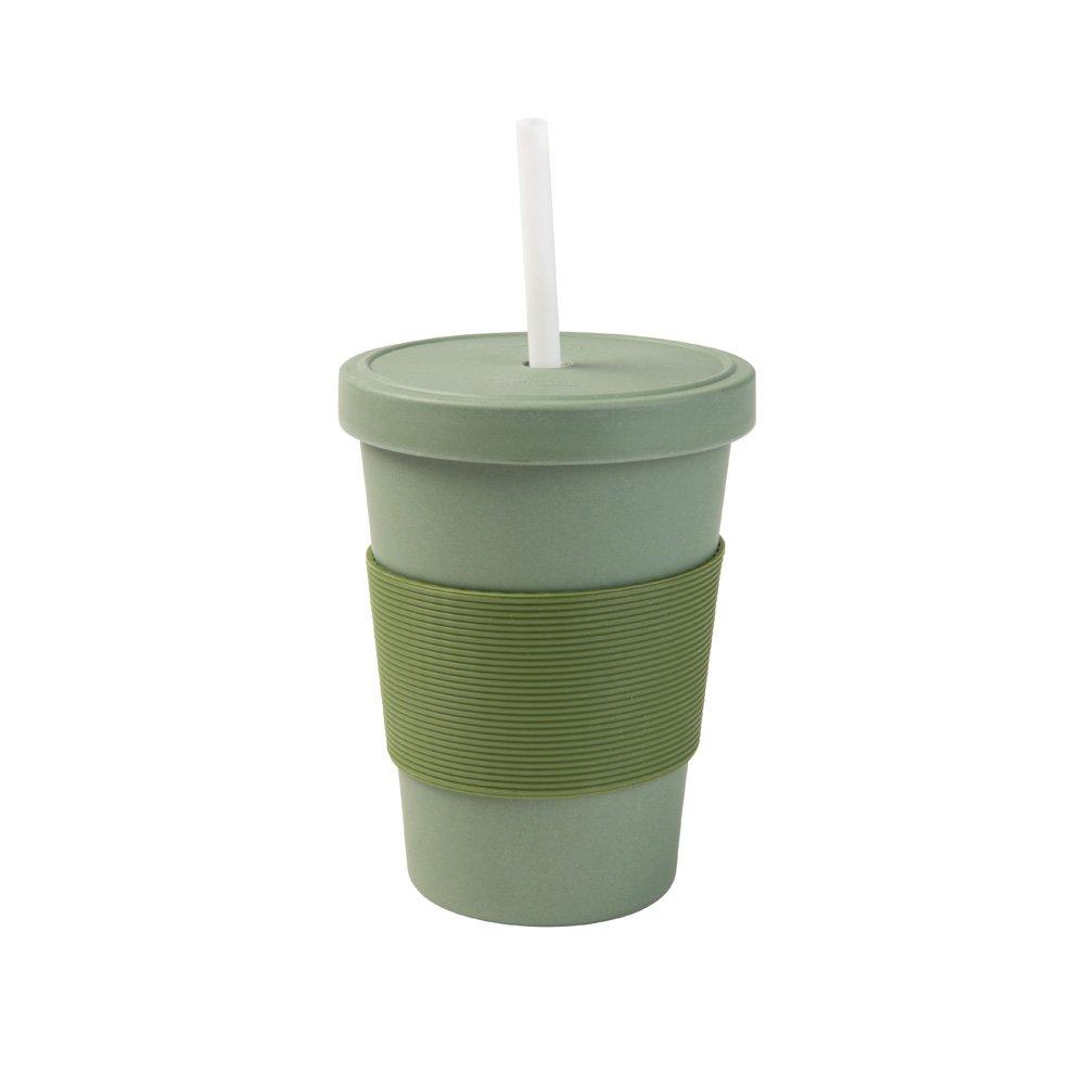 Biozoyg Coffee To Go Becher Mit Schraubdeckel Und Trinkhalm I Bambus
