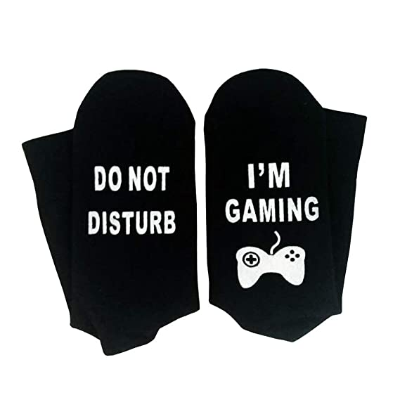 Amazon.com: DDHHYH Do Not Disturb Im Gaming Ankle Socks Great Novelty Gamer Gift for Gamers Who Have Everything!: Sports & Outdoors