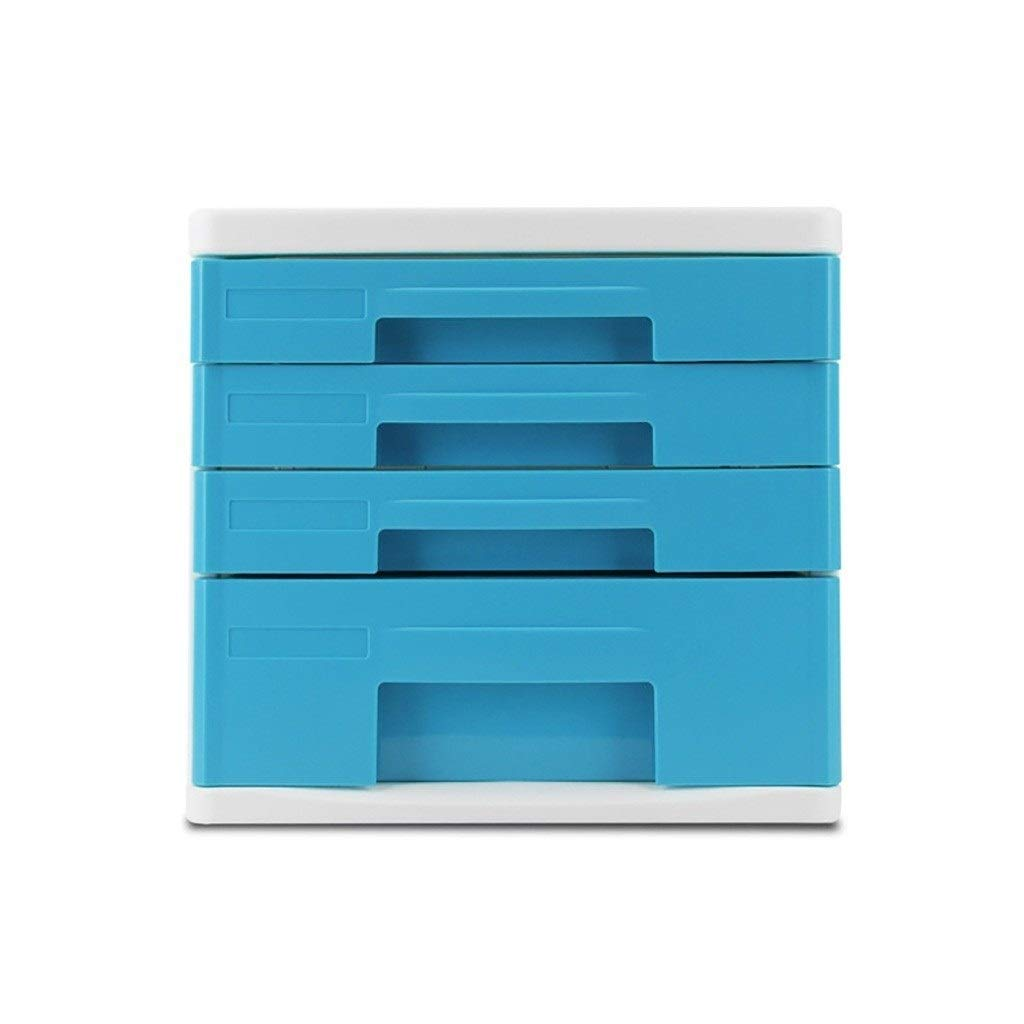 Bxwjg Desktop File Cabinet, for Storing Documents/Office Supplies, 4-Layer Drawer Organization Plastic 10.8in×13.6in×10in by Bxwjg