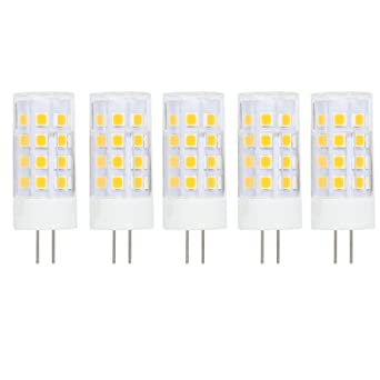 G4 Led Ac Dc 12v 5 Watt Warm White 3000k Light Bulbs Spotlight Not Dimmable Replace 30w Halogen Lamp Warm White 5 Pcs