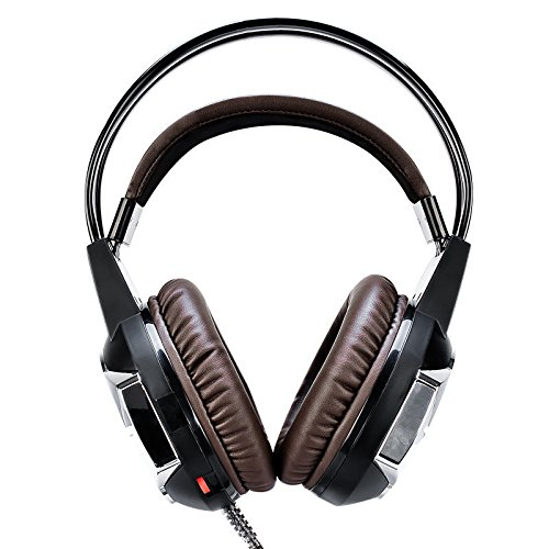 Computer Game Headphone With Mic Fashion Adjustable Gaming Led Light For Pc Altec Lansing Computers Earphones