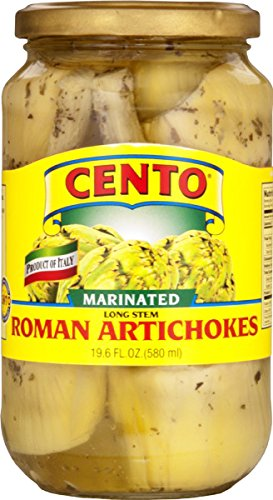 Cento - Marinated Long Stem Roman Artichokes, (2)- 19.6 oz. Jars