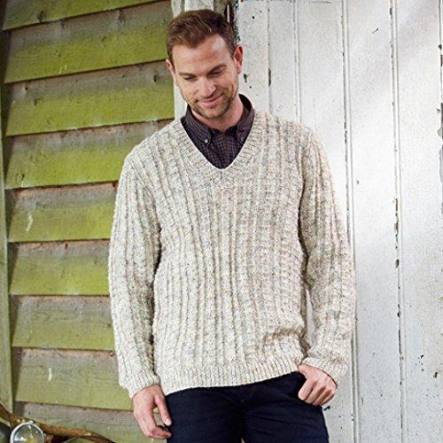 Stylecraft Mens Sweater & Cardigan Special With Wool Knitting Pattern 9341 Aran