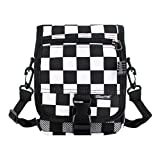Monique Women Checkerboard Plaid Handbag Small Clutch Money Coin Purse Phone Pouch Mini Crossbody Bag Satchel Beach Outdoor Travel Sling Bag 2927 Black & White Plaid