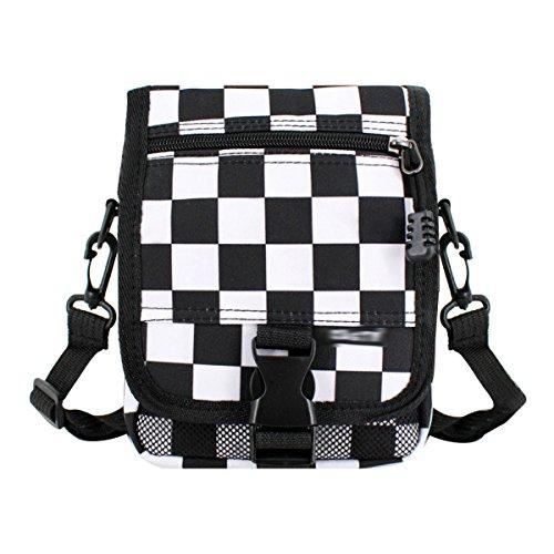 - Monique Women Checkerboard Plaid Handbag Small Clutch Money Coin Purse Phone Pouch Mini Crossbody Bag Satchel Beach Outdoor Travel Sling Bag 2927 Black & White Plaid
