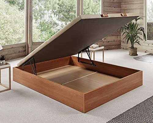 Komfortland Canapé abatible Wood de Home Medida 135x190 cm Color Cerezo: Amazon.es: Hogar