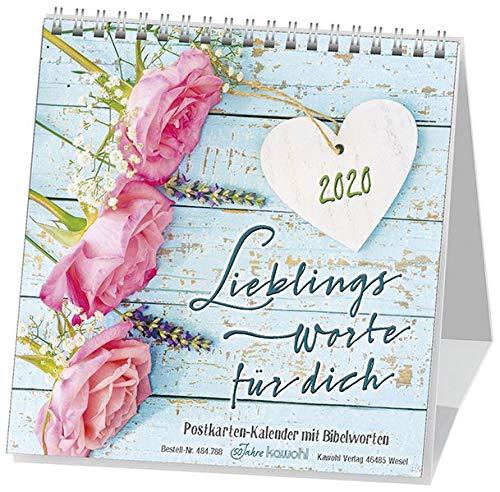 Lieblingsworte Für Dich 2020  Postkartenkalender Mit Bibelworten