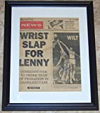 Wilt Chamberlain Autographed Picture - 11x14 Newspaper Cover AH LOA! - JSA Certified - Autographed NBA Photos