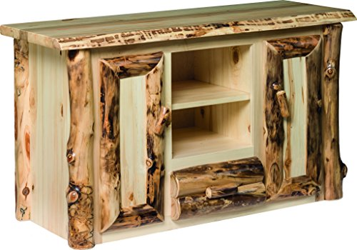 Aspen Log TV Stand with 2 Center (Primitive Log)