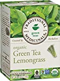 Traditional Medicinals Organic Green Tea Lemongrass Tea, 16 Tea Bags, .85 Oz (Pack of 6)