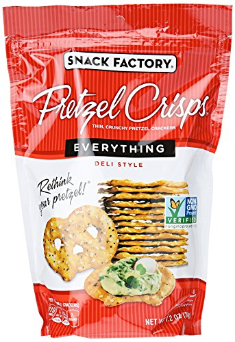 (Snack Factory Pretzel Crisps, Everything, 7.2)