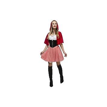Smiffys Fever Damen Kostüm Dirndl Rotkäppchen Karneval