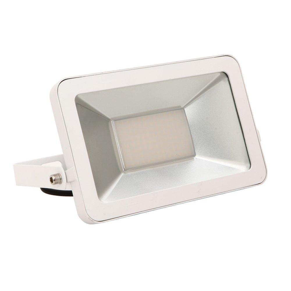 MCTECH® Ultraslim 50W LED Strahler Fluter Außenstrahler IP66 Wasserfest Außenleuchten SMD Flutlicht (50W Warmweiß)