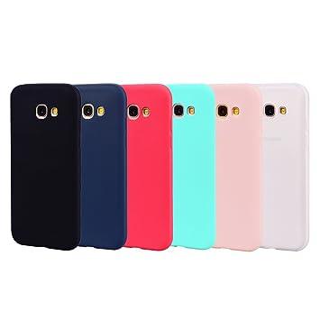 Leton 6X Funda para Samsung A3 2017 Silicona Ultrafina Case Suave Flexible TPU Carcasa Galaxy A320 Ultra Delgado Gel Caja Anti Choque Candy Cubierta ...