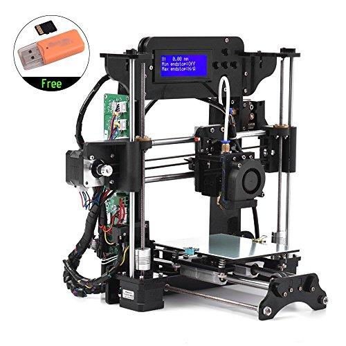 TRONXY TRONXY XY-100 Portable Desktop 3D Printer Kit DIY Self Assembly High Precision Prusa i3 Acrylic Frame with 8GB Memory Card Support ABS/PLA/TPU/Wood Filament for Beginners Printers TRONXY
