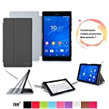 Sony Xperia Z3 Compact Tablet Case Cover FYY® Smart Cover Folio Case for Sony Xperia Z3 Compact Tablet Black (With Auto Wake/Sleep Feature)