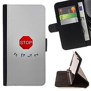 Momo Phone Case / Flip Funda de Cuero Case Cover - DIVERTIDA - MUESTRA DE LA PARADA - Samsung Galaxy A5 ( A5000 ) 2014 Version