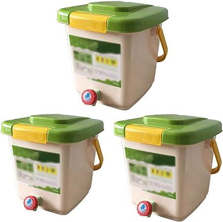 Kai Xin Barriles de Alimentos residuos de Materia orgánica, Hecha en casa Barriles Fertilizante orgánico Compost Bin fermentación en barrica 3 Pequeños (Color : A): Amazon.es: Hogar