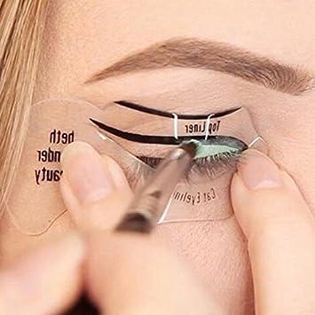 JERN Cat Eyeliner Stencil & Smokey Eye Makeup Stencil Reusable ...
