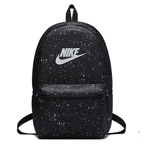 2a7486106e Nike Heritage Sac à Dos bkpk-AOP, Aucun Genre, Noir/Noir/Blanc, Taille  Unique: Amazon.fr: Sports et Loisirs