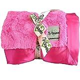 My Blankee Luxe Bella Throw Blanket, Raspberry, 52'' X 60''