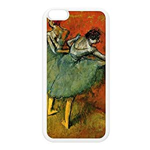 Ballerian Girl 6 by Edgar Degas White Silicon Rubber Case for iPhone 6 Plus by Painting Masterpieces + FREE Crystal Clear Screen Protector