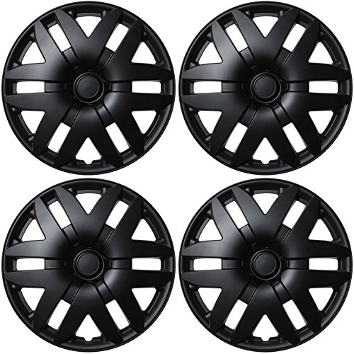Abs Cover - 4 PC SET Hub Cap ABS BLACK MATTE 16