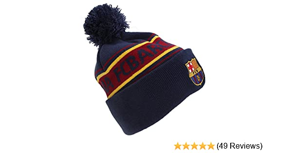 fe4df3587b4 Amazon.com   F.C. Barcelona Barcelona Text Cuff Knitted Hat